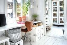 Home | In Office / Design inspiration for a home office.
