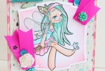 Fairies - Some Odd Girl / Cards & crafts using the Fairy digital and clear stamps by Some Odd Girl.