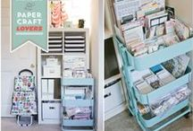 Studios, Offices, & Crafty Organization / Great spaces and great ideas to keep your goods in line and inspire you