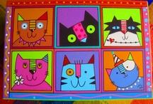Cat Illustration / by Rebeca Maltos