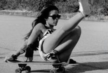 Longboard // Skateboard Girls / Proving that women can skate hard with style and grace.