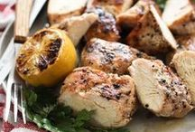 Chicken Recipes / From baked to grilled, these favorite fast and easy chicken recipes are healthy and comforting, sometimes made in the crock pot, as a stew or baked for dinner, lunch and appetizers. / by Heidi | FoodieCrush