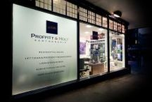 Vinyl On Glass / Glass might need treating for a number of reasons: safety, privacy and personalisation. A bespoke vinyl application is a quick way to create a stunning look inside and outside your workplace. http://www.mplinteriors.com/project-category/what-we-do/shop-fit-out/shop-fronts-office-signage/