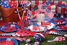 Fourth of July Fun / Throwing a 4th of July Party?  Check out all of these fun patriotic party ideas! Everything RED, WHITE & BLUE.
