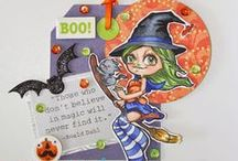Halloween - Some Odd Girl / Halloween crafts and cards that are made using Some Odd Girl images.