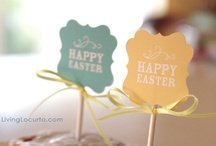 Easter Printables / Bunnies, baskets, boxes, chicks and flowers, printable Easter fun  to unleash your creative powers!  Collections of free easter printable templates (and a few just too cute not too pay for). Have a happy Easter!