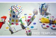 Polka Dots / Colorful polka dot printable pages. You either love or hate polka dots, personally I think they are adorable decorations, especially for crafts and parties.