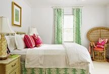 Beach House/Master Bedroom / Palm Beach, Green and White / by Morgan Engel