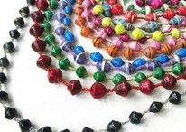 Papírgyöngy - Paperbeads / All kind of jewelry with paper beads