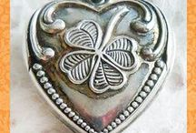 Celtic Design / Trinity knots, Celtic Crosses, Shamrocks - they appear on samplers, paintings, tattoos, jewellery. Like Galway's Claddagh rings...