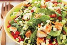 Satisfying Salads / Forget barely-there lettuce with a sprinkling of veggies. These hearty, healthy salad recipes will keep you full until dinner.  / by FITNESS Magazine