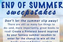 End of Summer Sweepstakes / Don't let the summer slip away! Enter our End of Summer sweepstakes to win a set of paperbacks perfect for your summer vacation!