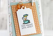 Coffee Themed Handmade Cards / They say coffee makes the world go round.  Find all your coffee creating inspiration here.