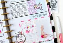 Bullet Journal Inspiration / Inserts and Spreads for Bullet Journals featuring Sweet Stamp Shop
