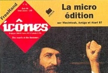 Journal Icônes / Les couvertures de la revue Icônes, des souris et des hommes dirigé par Jean-Pascal Grevet à laquelle j'ai participé au siège Lillois et à Roubaix…