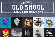 Old Skool Gallery Release / This selection of fine designs features shirts both pop-culture influenced and from our designerly past. Check out the favorites that still stand tall and true-- these tees, they're old skool! / by TeeFury