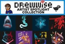DREW - WISE / Say hello this special spotlight for long familiar TeeFury artist Drew Wise! Designs available March 18th - March 25th. / by TeeFury