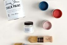 HOW TO | Chalk Paint® by Annie Sloan / How to Use Chalk Paint® decorative paint by Annie Sloan & Fabrics