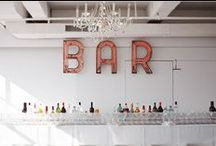 Bar / Inspiration for building a wedding or party bar, staffing it, and choosing a drink menu! / by Floridian Social