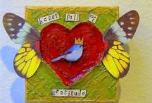 I Heart Art / Show the love in your mixed media projects with these heart inspired designs and tutorials!