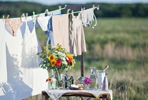 Vintage Linens, and Clothesline Romance / Pillowcases, tablecloths, hankies, and other table / bureau vestments....  Including vintage material or clothing.  All on their own, in groups, or remakes...  / by Matrixbabe Vintage
