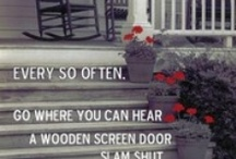Screen Door Breezes / Vintage or present day, plain or detailed.  If you ever  stared out through a screen door, hear it slam shut, or smelled the rain on a hot summer day through one, you'll know the longing.   / by Matrixbabe Vintage