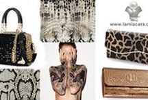 """BAGS & PURSES & SUITCASES / """" I want my handbags to be stylish but also that they're versatile. I travel and I have to make sure the pieces I put into my bag can go with a casual dress or with smart jeans."""" La Mia Cara"""