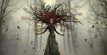 RPG ideas - Treefolk & Spirits / Treemen, dryads, forest spirits, fairies, ghosts, etc