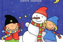 Thema Winter / Bij boek Heksje Mimi tovert sneeuw.