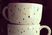 Caffine ~ / Coffee and cups. / by Phebe Jacobson