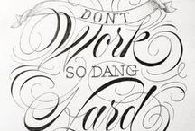 Lettering + Type / Letters, fonts, calligraphy, type