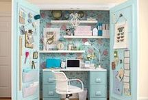 ideas for small sewing spaces / by Erin @ Why Not Sew?