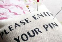 pretty pincushion love / by Erin @ Why Not Sew?