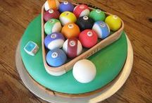 Birthday's billiard cake