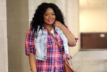 FTF + Denim Vest 3 Ways / Plus Size Blogger Chante Burkett from Everything Curvy and Chic shows us how to style Fashion To Figures Denim Vest.