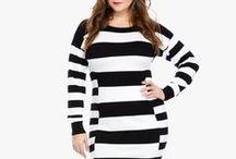 FTF + Statement Stripes / Plus Size Fashion from Fashion To Figure
