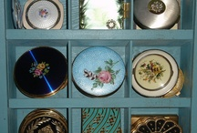 compacts and other cosmetic containers / wish we still used these. Beautiful!  / by Susan Lawless