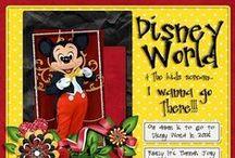Disney scrapbooking / I love Disneyworld! I also love scrapbooking.