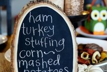 THANKSGIVING / Give thanks to these yummy recipes, ideas for setting the table and projects for decorating your home at Thanksgiving time / by Jamie Carter