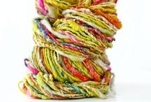 Handspun and Art Yarn / Textured Yarn / handspun art yarn inspiration