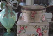Hat boxes/pretty boxes of all kinds! / I love hat boxes...something pretty to collect that is also useful!
