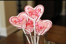 Valentine's Day Ideas / Here are some Valentine's Day Crafts, Treats, Ideas and more. These are simple and cheap ideas!