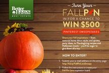 BHGRE® Fall PIN Love / Share your inspirations - from your warmest home décor styles, to the spookiest party ideas, to the Turkey Day recipes you're eager to try - for a chance to win $500! To enter our sweeps, visit http://bit.ly/FallPinLoveSweeps