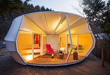 ARCHITECTURE cabins / ARCHITECTURE cabanes / Contemporaines ou classiques : un éventail des recherches contemporaines et classiques liées au micro-habbitat / by mdboi