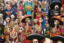 Día de los Muertos / I find this Mexican holiday to be fascinating, and beautiful in every way. To remember friends, and family who have passed on. To honor life, and death in such a powerful way.  / by Şenay Erdaş