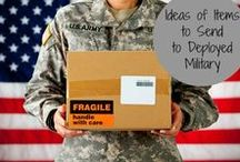 military care packages / Gift box ideas to send to military personnel serving overseas.