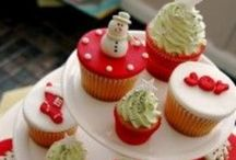 Decorating ideas for Christmas cupcakes