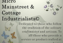 Small Business - Micro Mainstreet & Cottage Industrialists  / Do you sell online? Create art or craft? Dedicated to those who follow the tradition of the solitary craftmaster and artisan. To all those who provide a service or product crafted at home.  Join us on Linkedin - http://www.linkedin.com/groups?gid=4323621&trk=hb_side_g - or Facebook http://www.facebook.com/micromainstreet / by Stevie & Sammy The Kopper Kat My journey through life with my cat