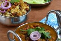 Indian /  Try to avoid added oils by sauteing in a little water or vegetable broth.