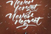 Hand Lettering / Hand lettering artworks